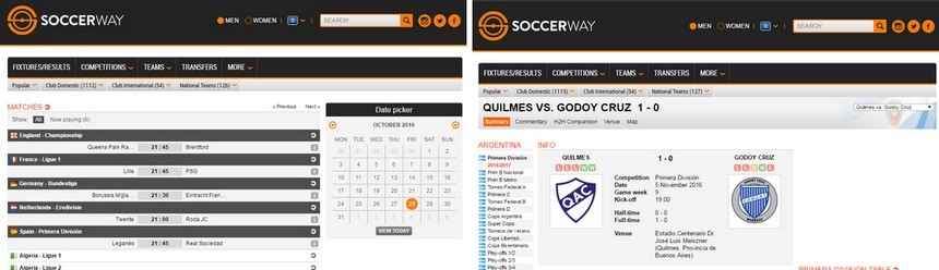 Soccerway * Football statistics and results